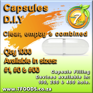 Capsules – Clear, Empty, Combined – Qty 1000 Size: #0